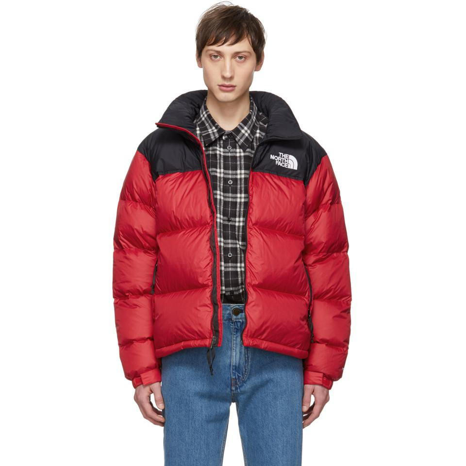 The North Face Red Down 1996 Retro Nuptse Jacket in Red for Men - Lyst 068eb581fab4