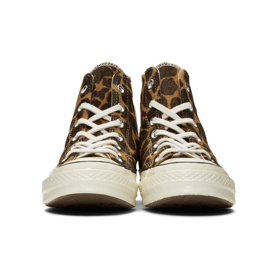 167ede0c5733f6 Converse - Multicolor Brown And Beige Giraffe Pony Hair Chuck 70 High  Sneakers for Men -. View fullscreen