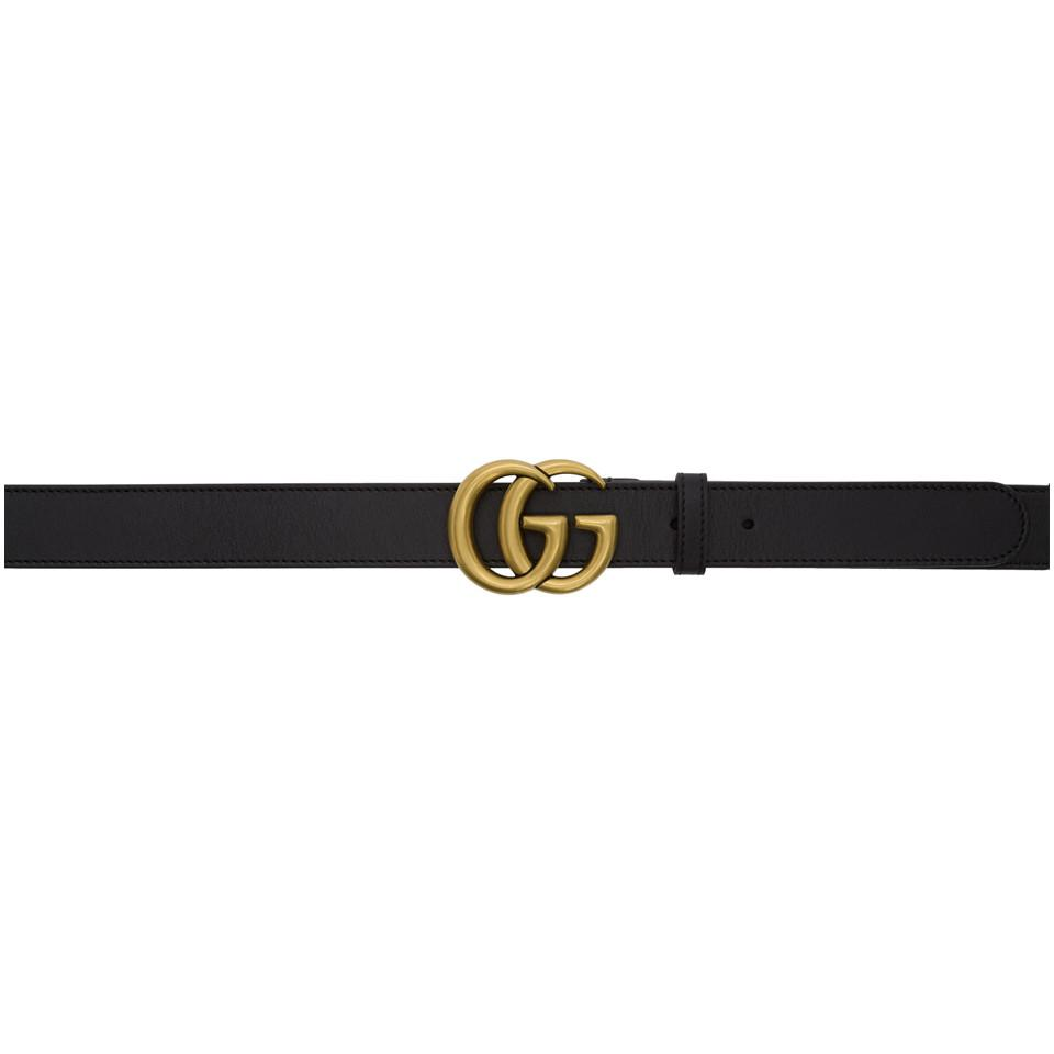 6d73084d24f Lyst - Gucci Black Gg Belt in Black for Men