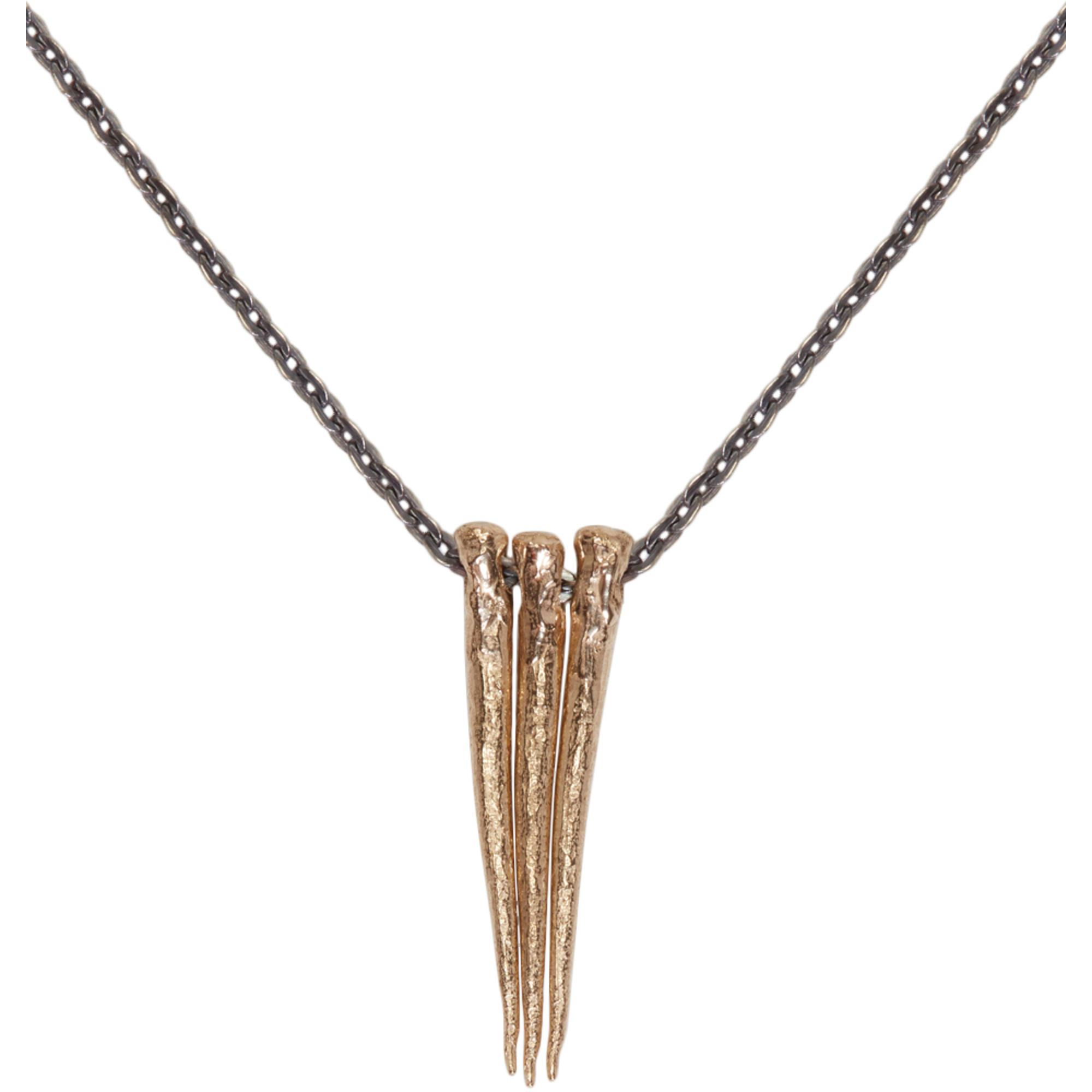 Gold Triple Thorn Necklace Pearls Before Swine 5svbn9yG3