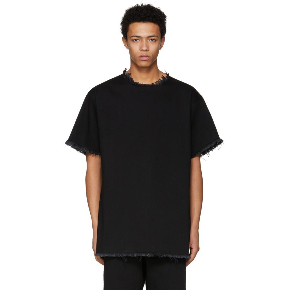 Hot Sale For Sale SSENSE Exclusive Black Classic Oversized Denim T-Shirt Marques Almeida For Nice For Sale Big Sale For Sale 5uoWPFLM