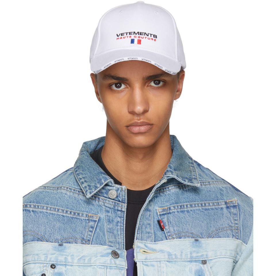 Lyst - Vetements White Haute Couture Logo Baseball Cap in White for Men 94dd61647a45