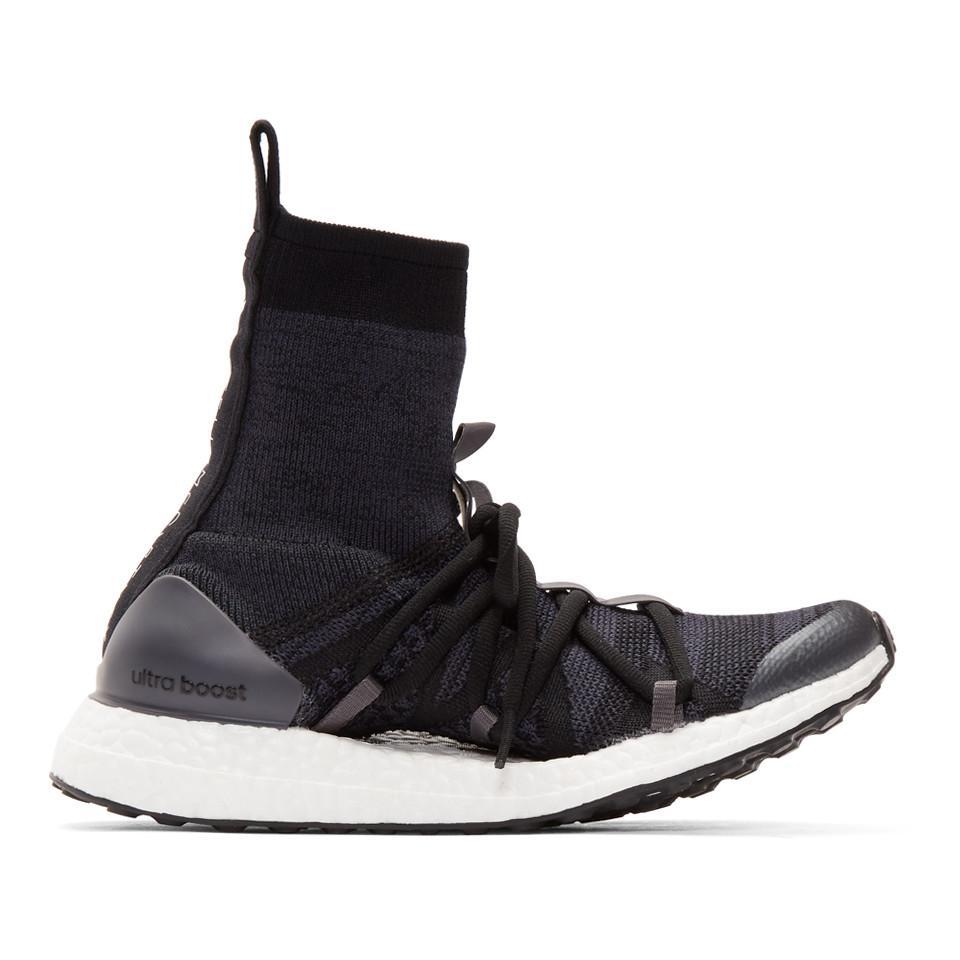 b5934b0b9a024 Lyst - Adidas By Stella Mccartney Black Ultraboost X Mid Sneakers in ...