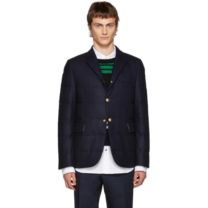 9032f3e4f934 Moncler Gamme Bleu Blue Wool Quilted Down Blazer in Blue for Men - Lyst