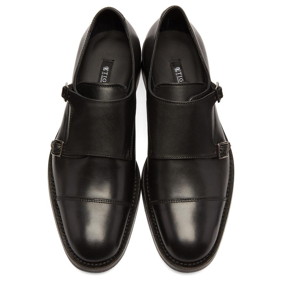 Brown Suede Thoren Monkstrap Shoes Tiger Of Sweden cmNy1