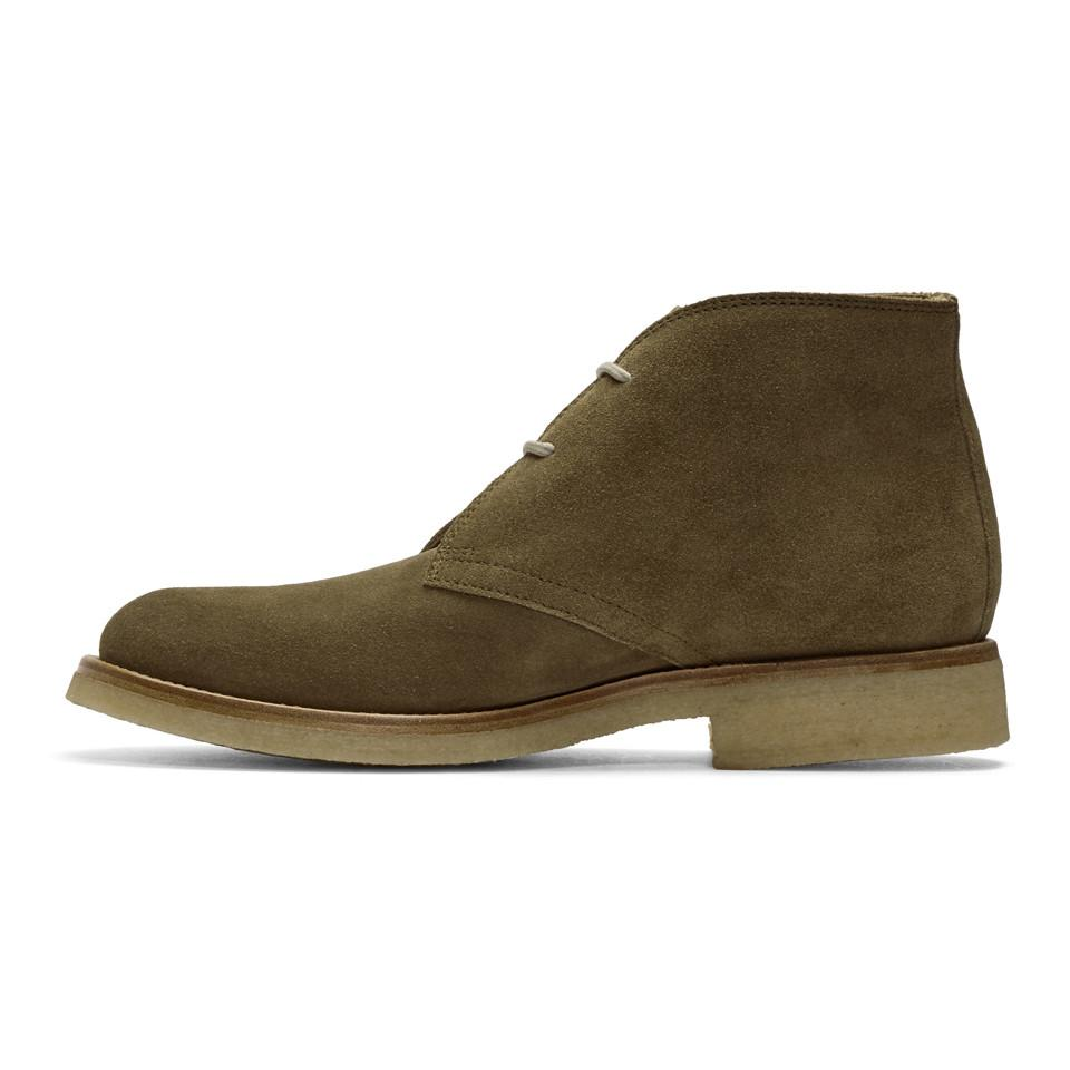 Belstaff Taupe Suede Harlesdone Boots