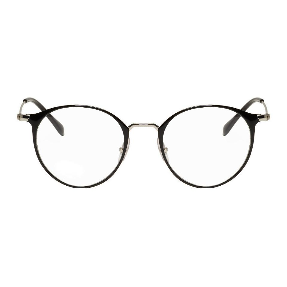 a8ae713add Lyst - Ray-Ban Black And Silver Round Rb6378 Glasses for Men