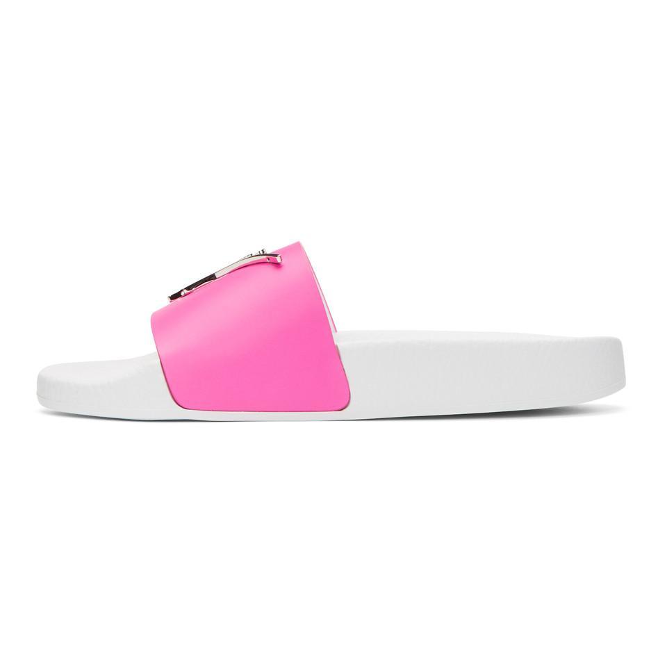 Giuseppe Zanotti Pink Laburela Slides YypNPDUkv3