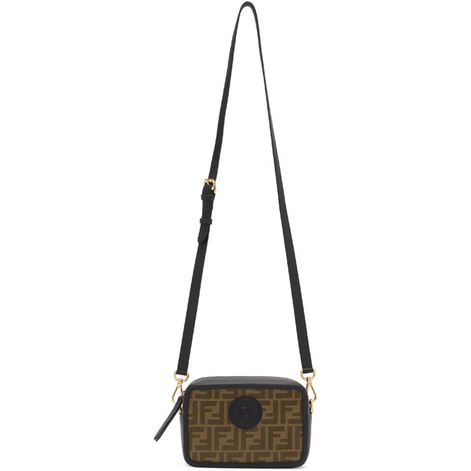 Fendi Black And Brown Small Forever Camera Bag in Brown - Lyst 15ed1561e1