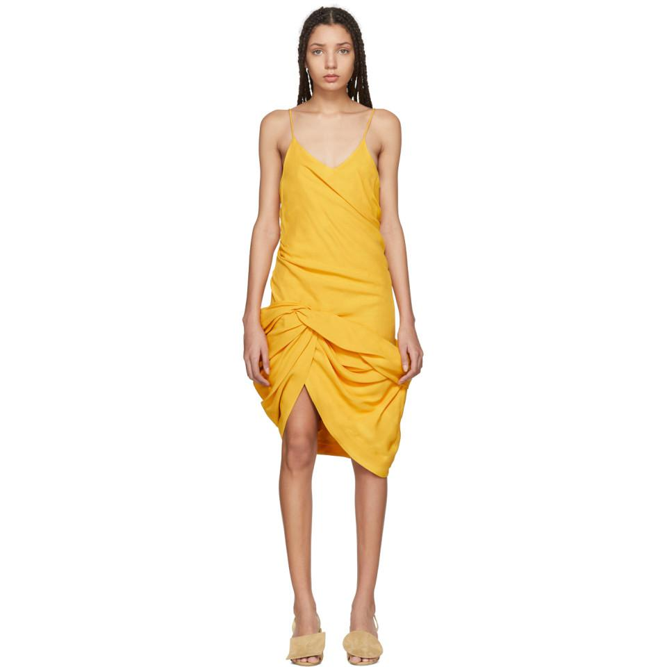 Collections Yellow La Robe Coracao Dress Jacquemus Fast Express Latest Cheap Price hbdZG20wm
