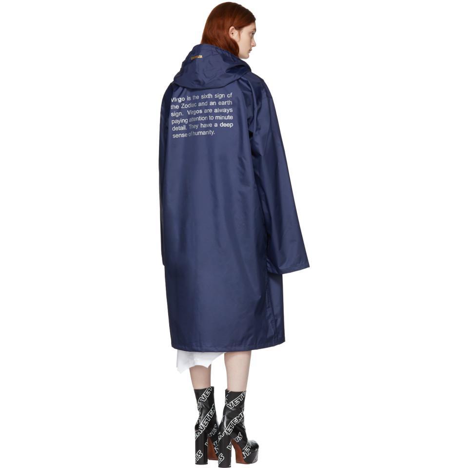 Horoscope Virgo hooded raincoat VETEMENTS Extremely Cheap Price Ao6kWHR