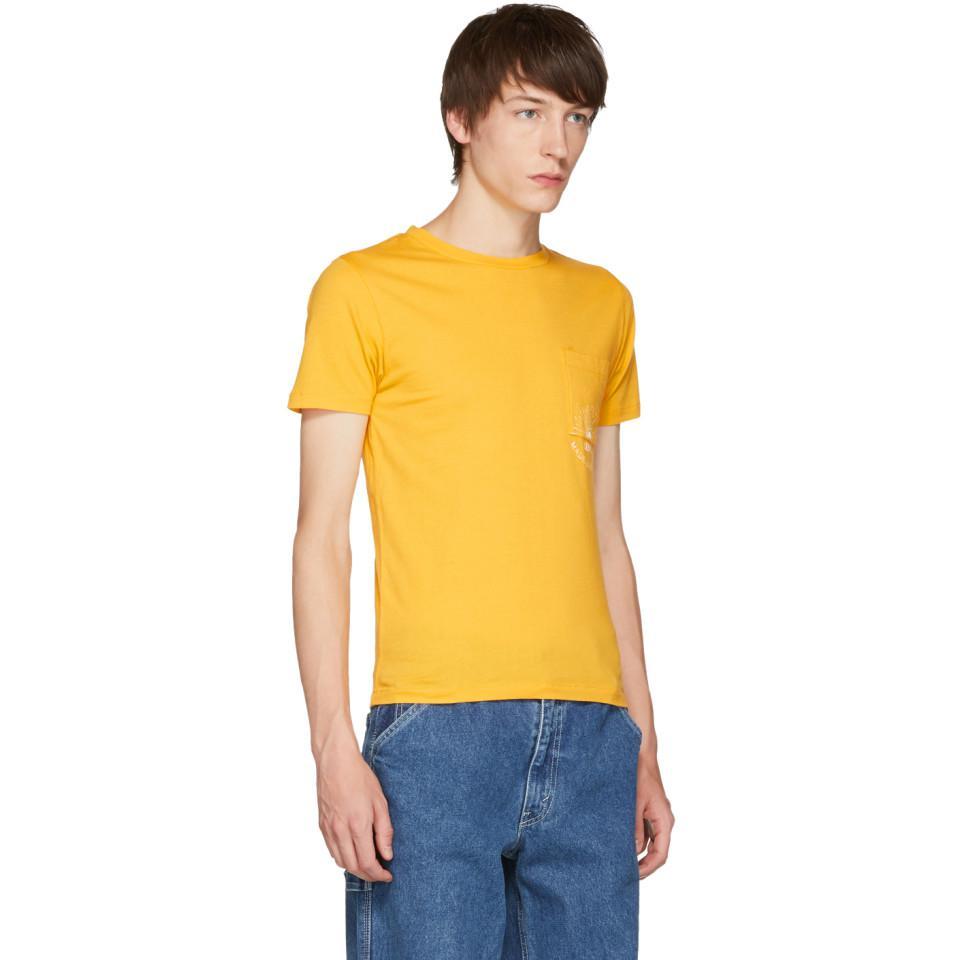 b70c22c58ee Lyst - Levi s Yellow Sun Pocket T-shirt in Yellow for Men