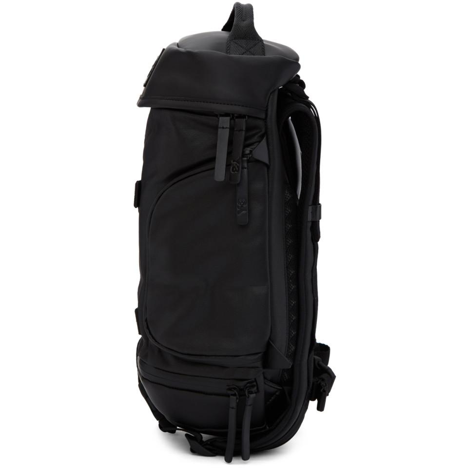 Lyst - Y-3 Black Small Icon Backpack in Black for Men 5dd8e4a8420d5