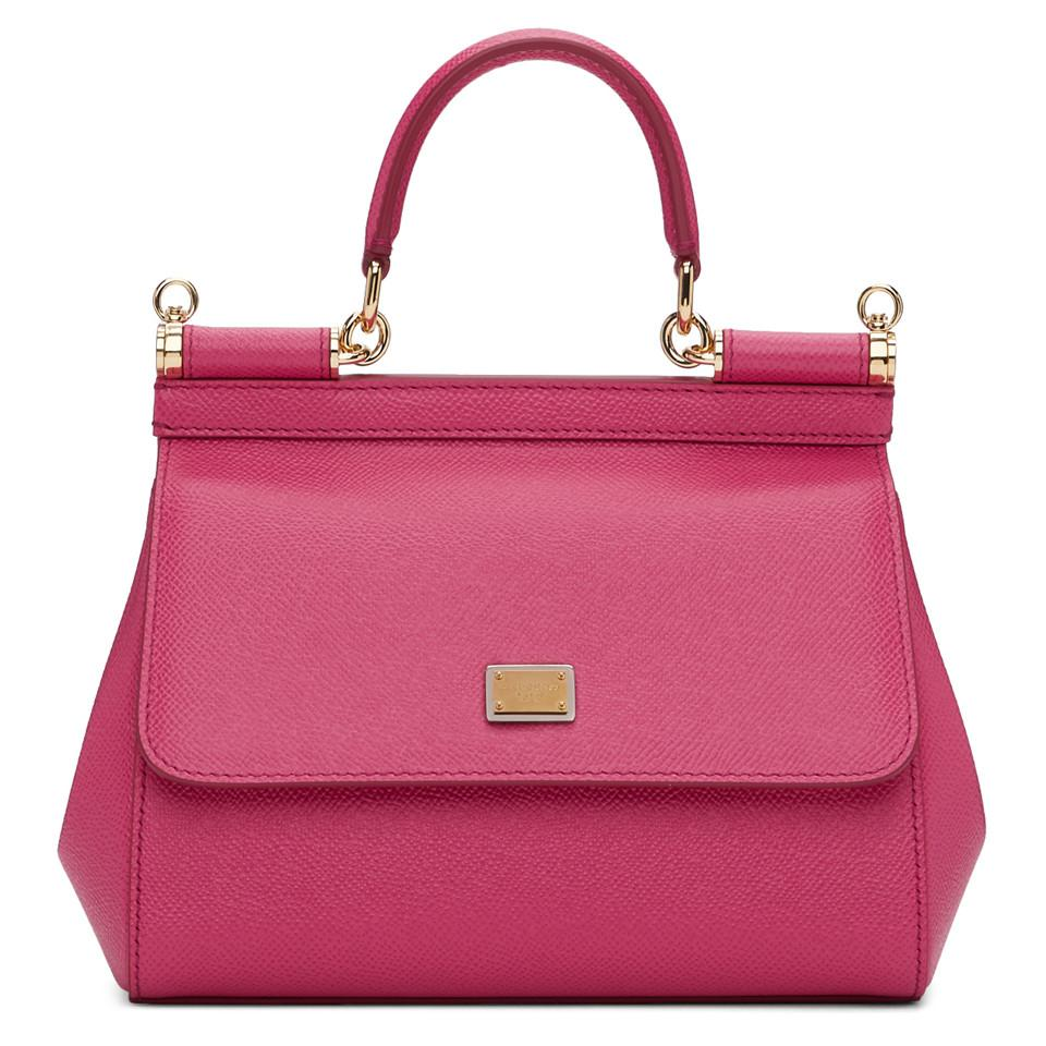 0e6c1279ea0b Dolce   Gabbana Pink Small Miss Sicily Bag in Pink - Lyst