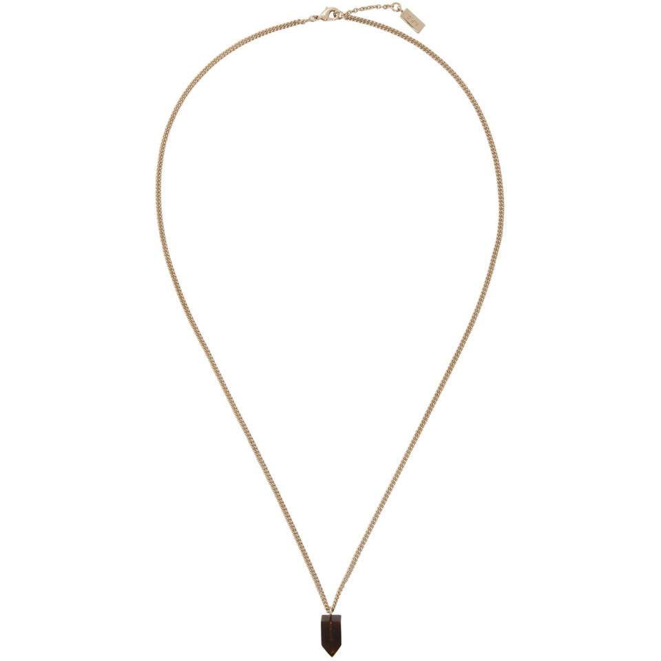 gold p necklace women c turenne apc a
