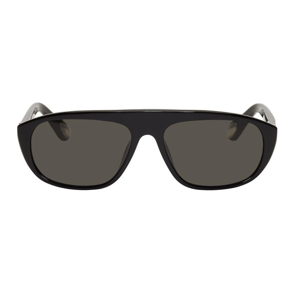 5c579df045 Ann Demeulemeester. Men s Black Linda Farrow Edition Rectangular Sunglasses