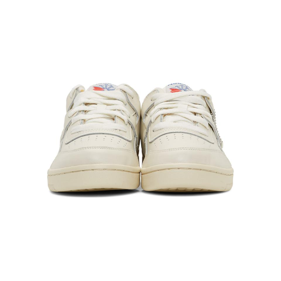 Reebok - White Workout Plus 1987 Tv Sneakers for Men - Lyst. View fullscreen 5f004220b