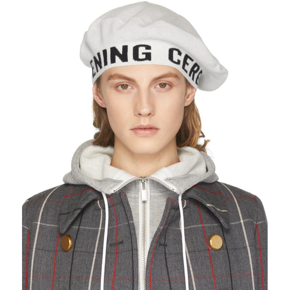 Pink Angora and Cashmere Logo Beanie Opening Ceremony nEVae