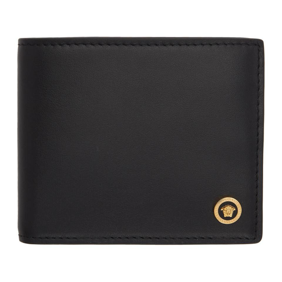3a11364cfc Lyst - Versace Black Medusa Bifold Wallet in Black for Men