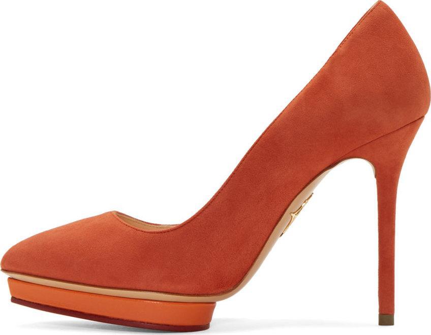 Burnt Orange Court Shoes