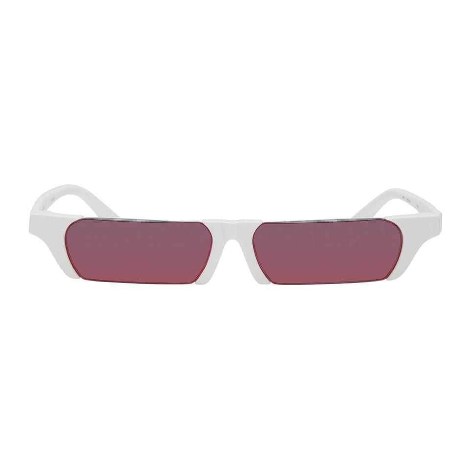 Out Burlon Marcelo Cut Edition Farrow White Sunglasses Linda In URq1qwOF