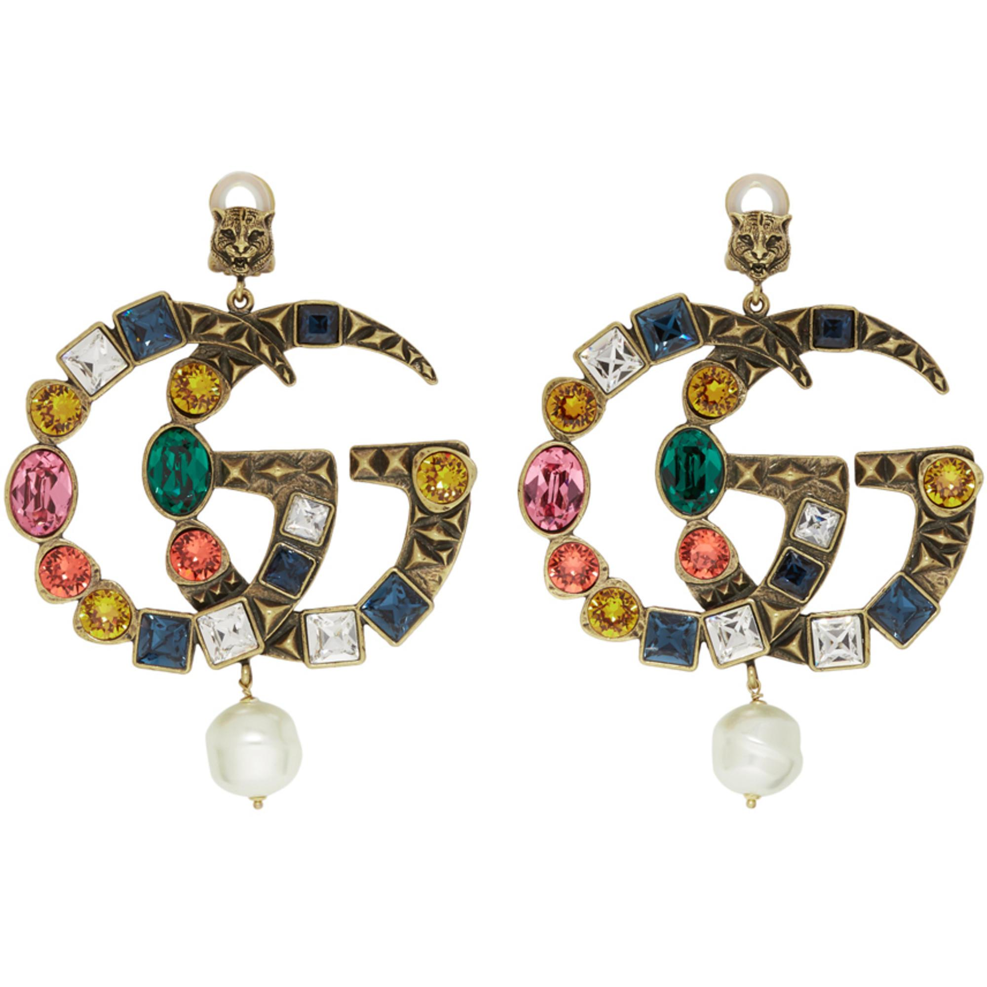 Gucci Beaded clip-on earrings nqr7I22nt