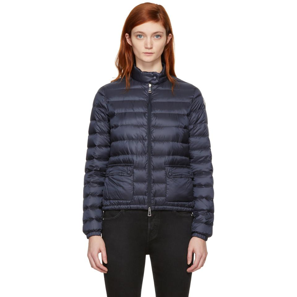 412f1899afa4 Moncler Navy Down Lans Jacket in Blue - Lyst