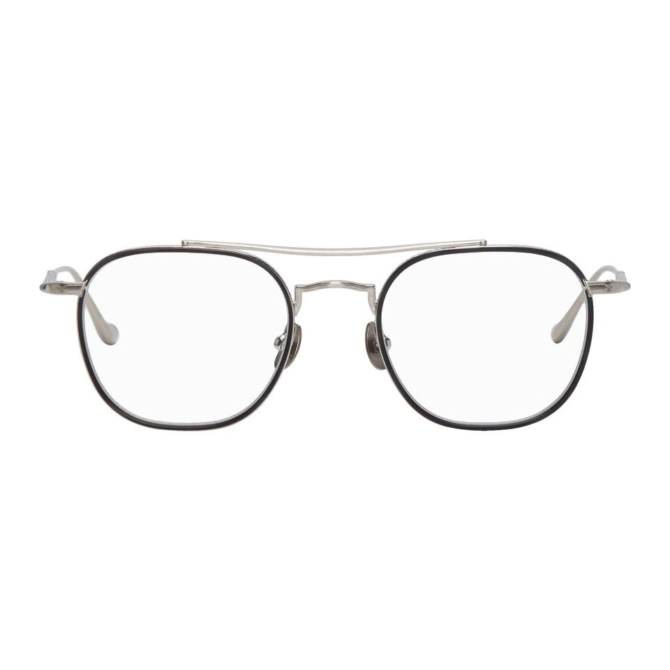 0c80a5388a Lyst - Matsuda Silver Brushed M3077 Glasses in Metallic for Men