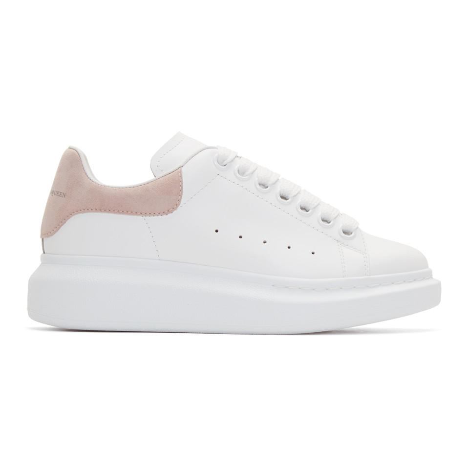 3f5244371515 Alexander McQueen White And Pink Oversized Sneakers in White - Lyst
