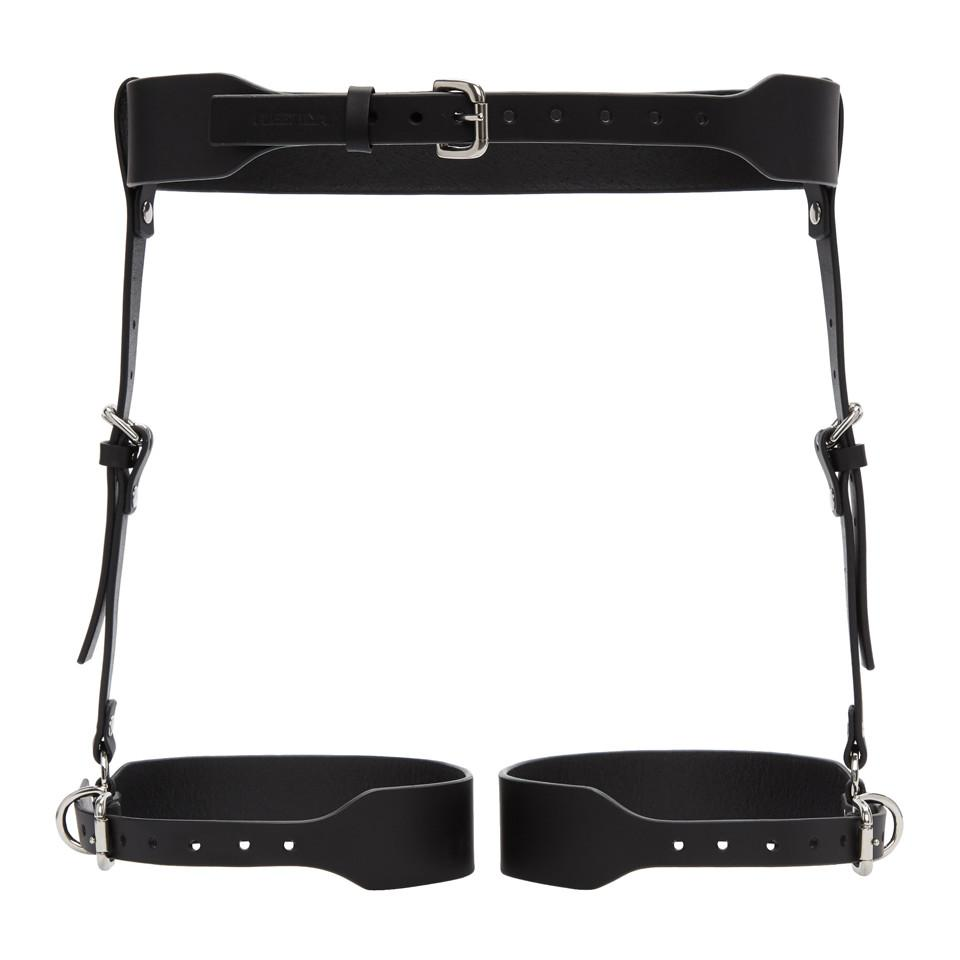 Black Thigh Pocket Suspender Harness Belt Fleet Ilya kdH7iX9