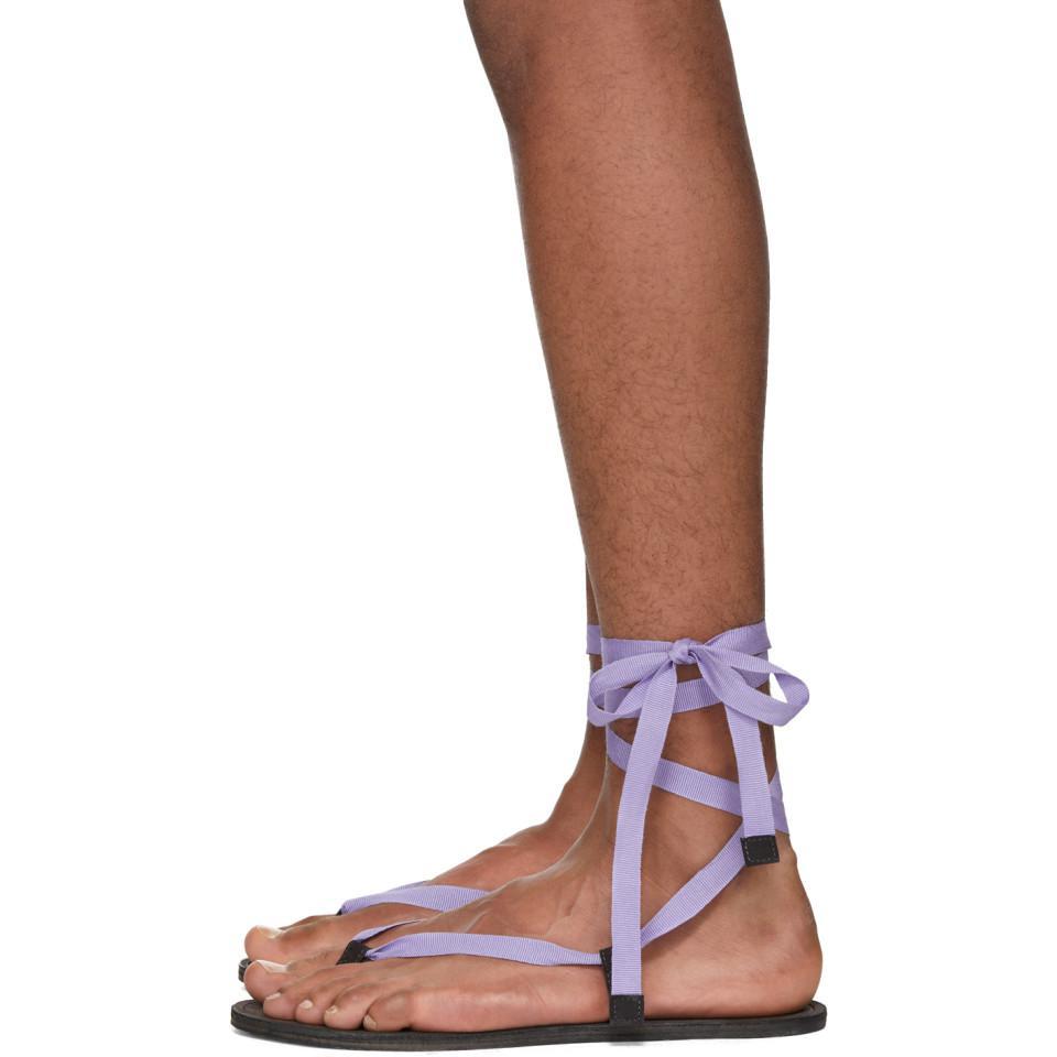 Haider Ackermann Bismuth Anthracite Sandals GPkDQQTX3K