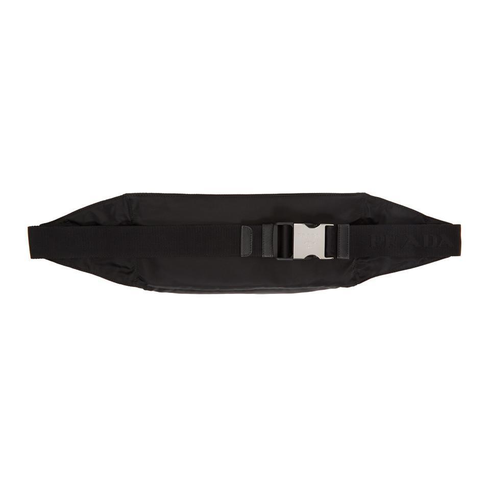 Black Large Classic Belt Pouch Prada xeFVCHIS