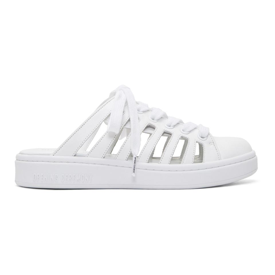 Opening Ceremony White Karlota Slip-On Sneakers Vente Boutique MknAZ4DHRH