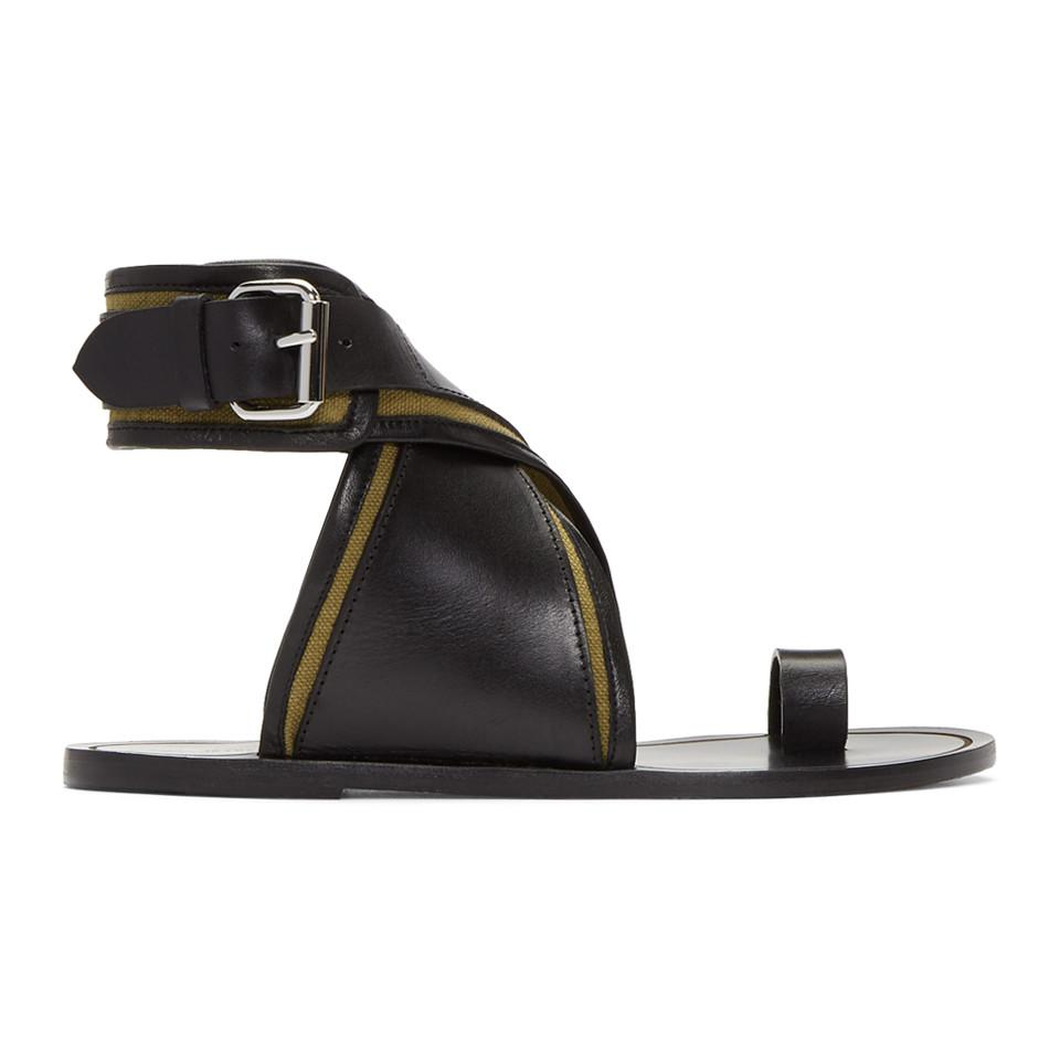 Isabel Marant Khaki Johen Ankle Wrap Sandals m1XilDCB22