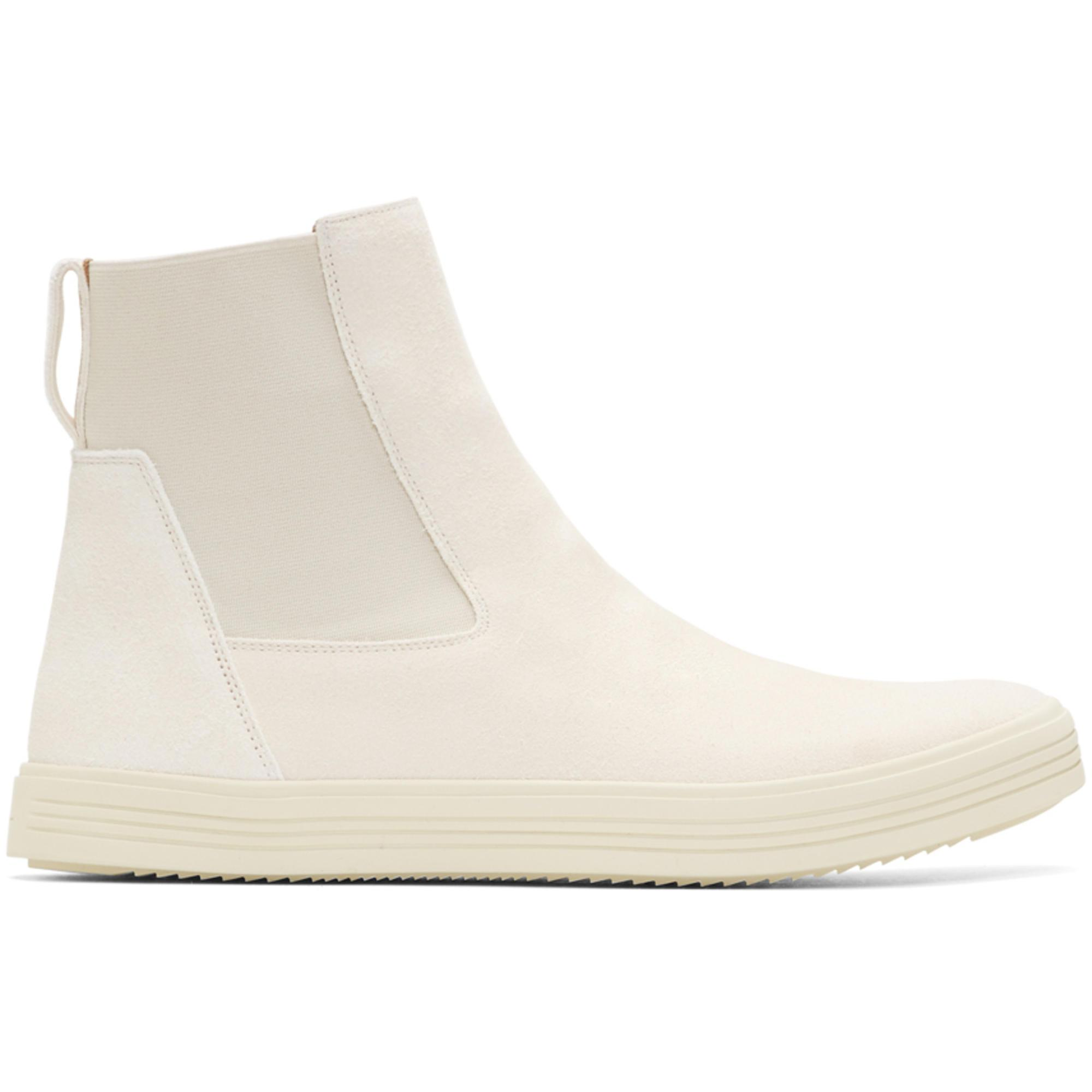 Latest Sale Online Outlet Low Shipping Rick Owens Off- Suede Mastodon Elastic Boots Drop Shipping Sale New Cheap Fashionable MreVQJ