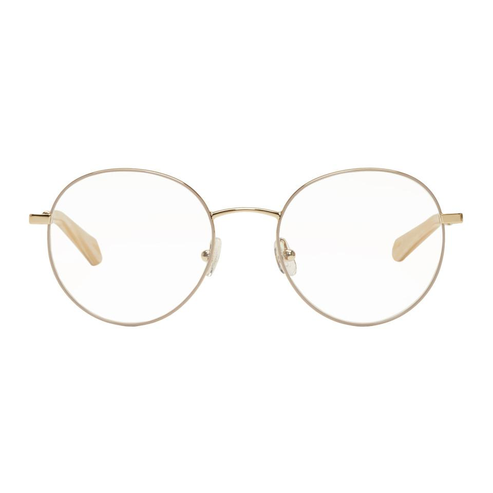 0b1b2ce7bb2 Lyst - Chloé Gold Palma Oval Glasses in Metallic