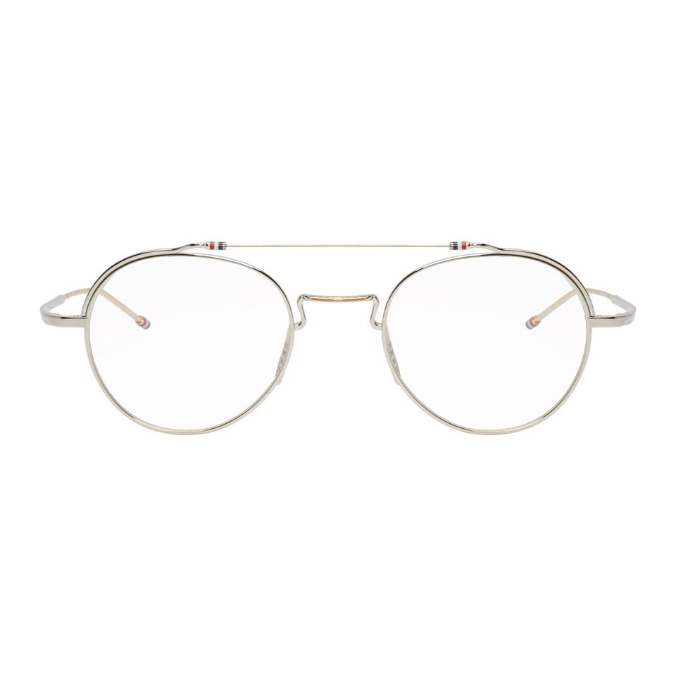 179177dbe18f Lyst - Thom Browne Silver Tbx912 Glasses in Metallic for Men
