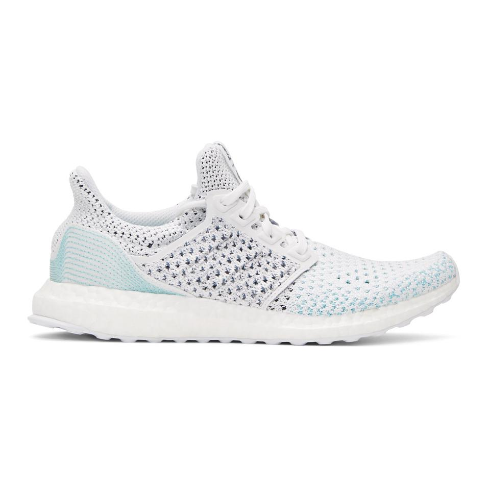 0d62d8afc750 adidas Originals White And Blue Ultraboost Parley Pk Sneakers in ...