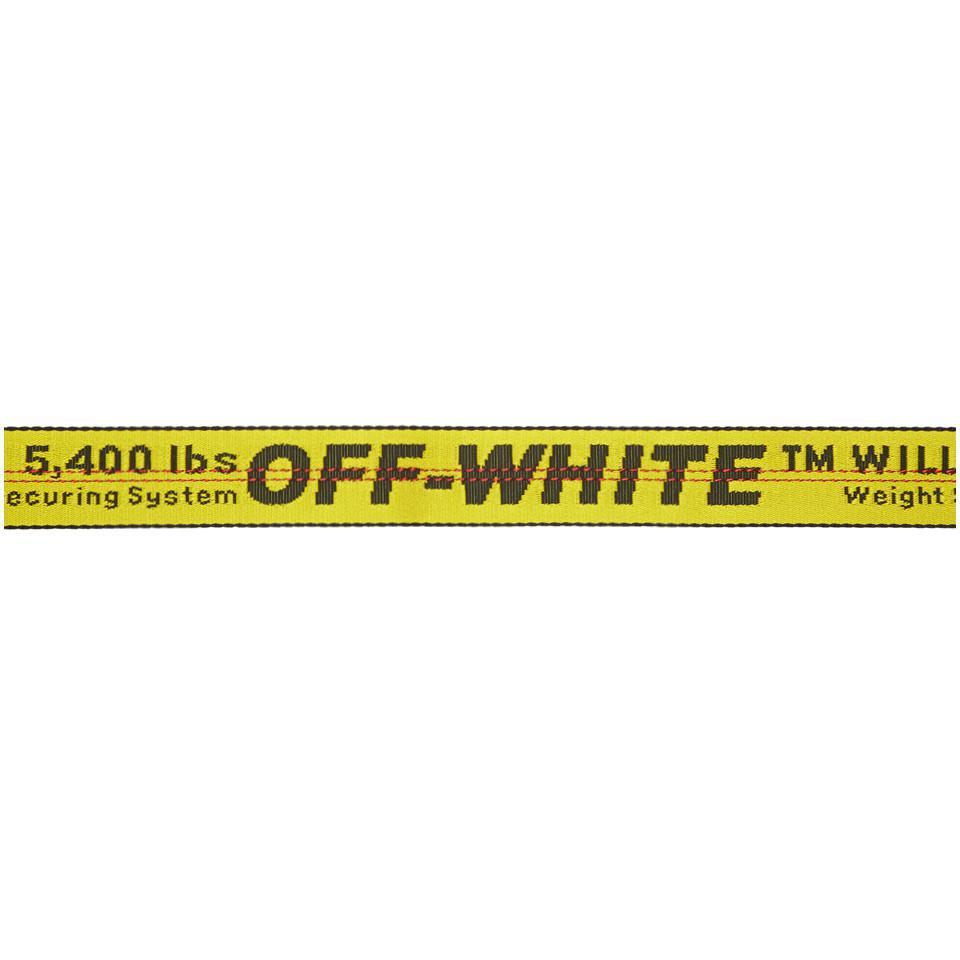 Lyst - Ceinture jaune Industrial Off-White c o Virgil Abloh pour ... 74abb993532