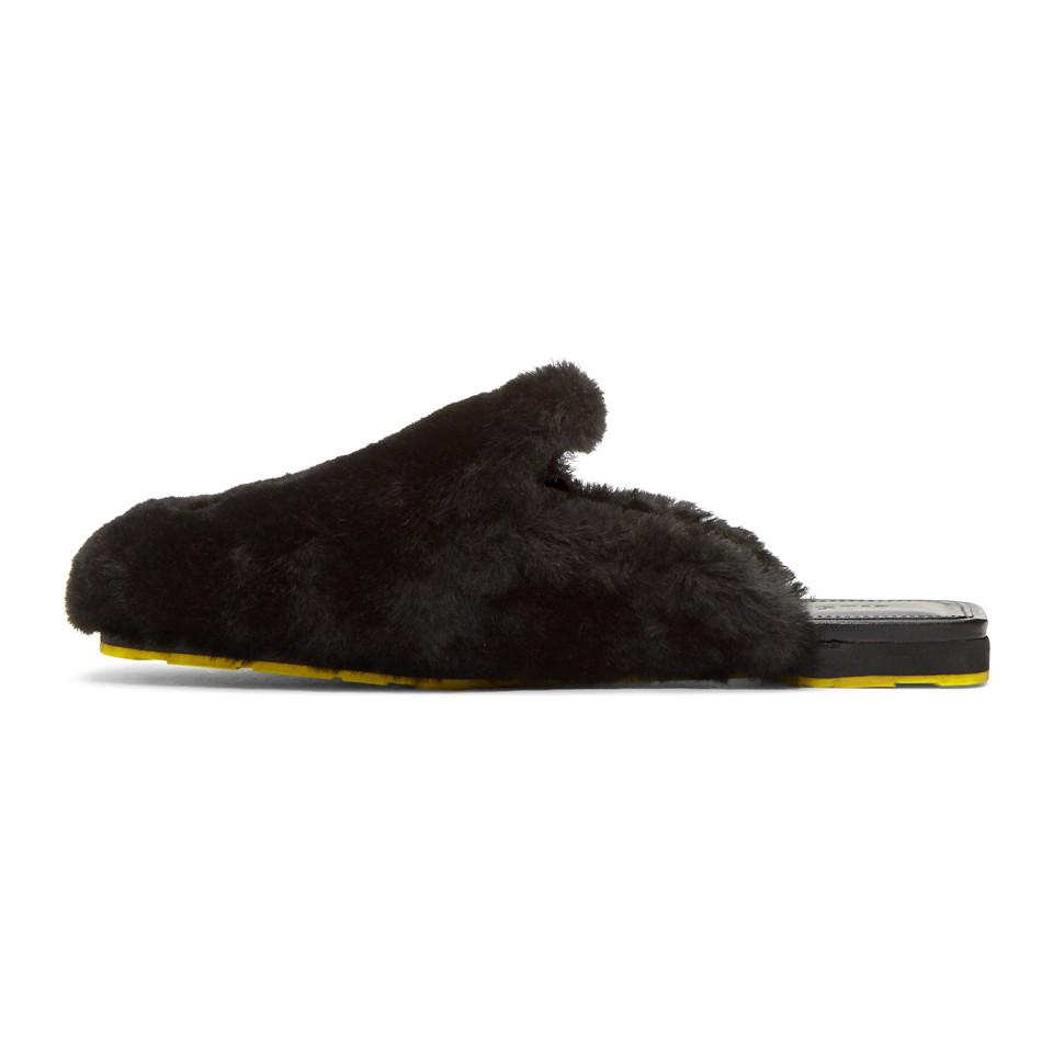 Outlet Order Jil Sander Shearling Slides Cheap New Styles Popular For Sale LImGH9EX