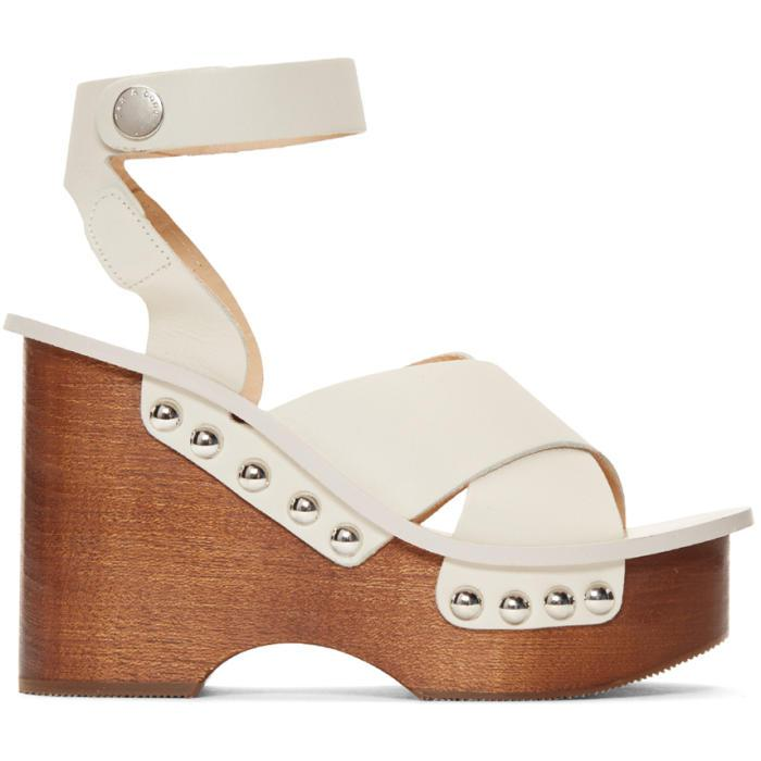 b7ad153dcd3a Lyst - Rag   Bone Ivory Hester Sandals in White