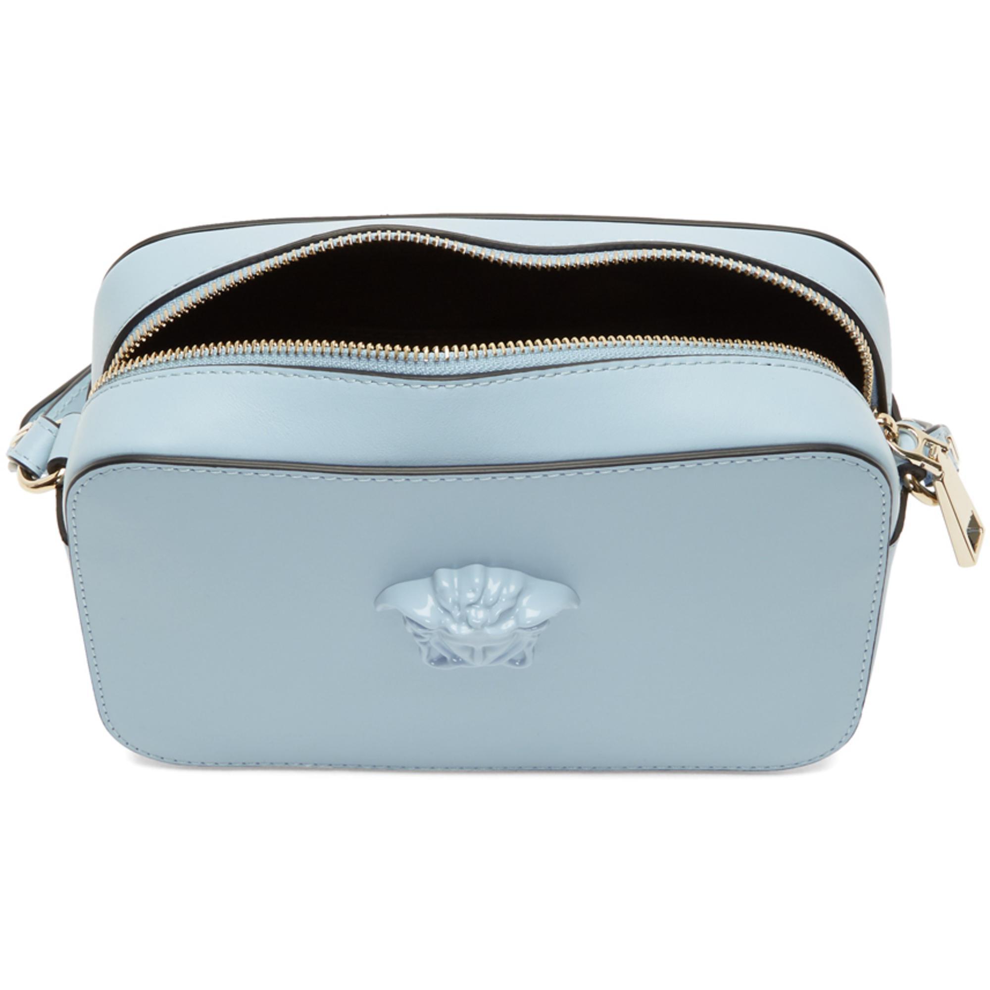 e7b80e15d13 ... Versace Blue Medusa Camera Bag in Blue - Lyst save off e0815 e5bc5  Buy  Versace Palazzo Medusa Camera Bag Leather Small White 3492201 – Rebag ...