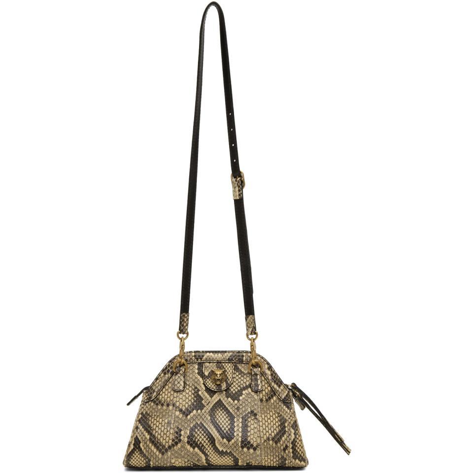 93b267a8f09f Gucci - Natural Beige Python Rebelle Shoulder Bag - Lyst. View fullscreen