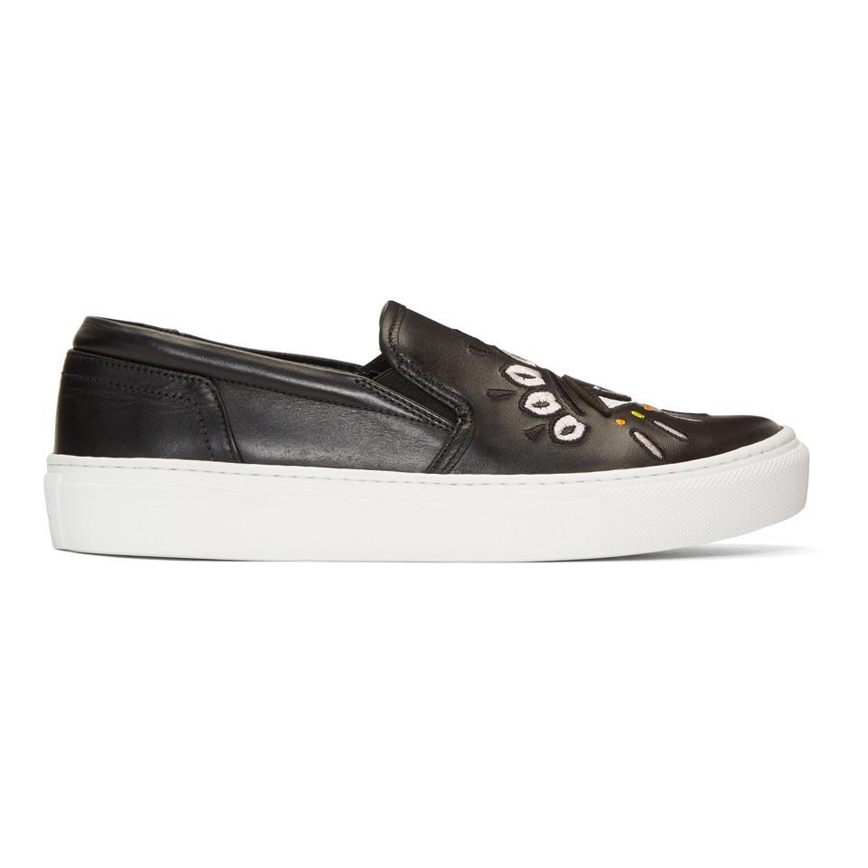 Kenzo Eye K-Slate Slip-On Sneakers DEXSwUg