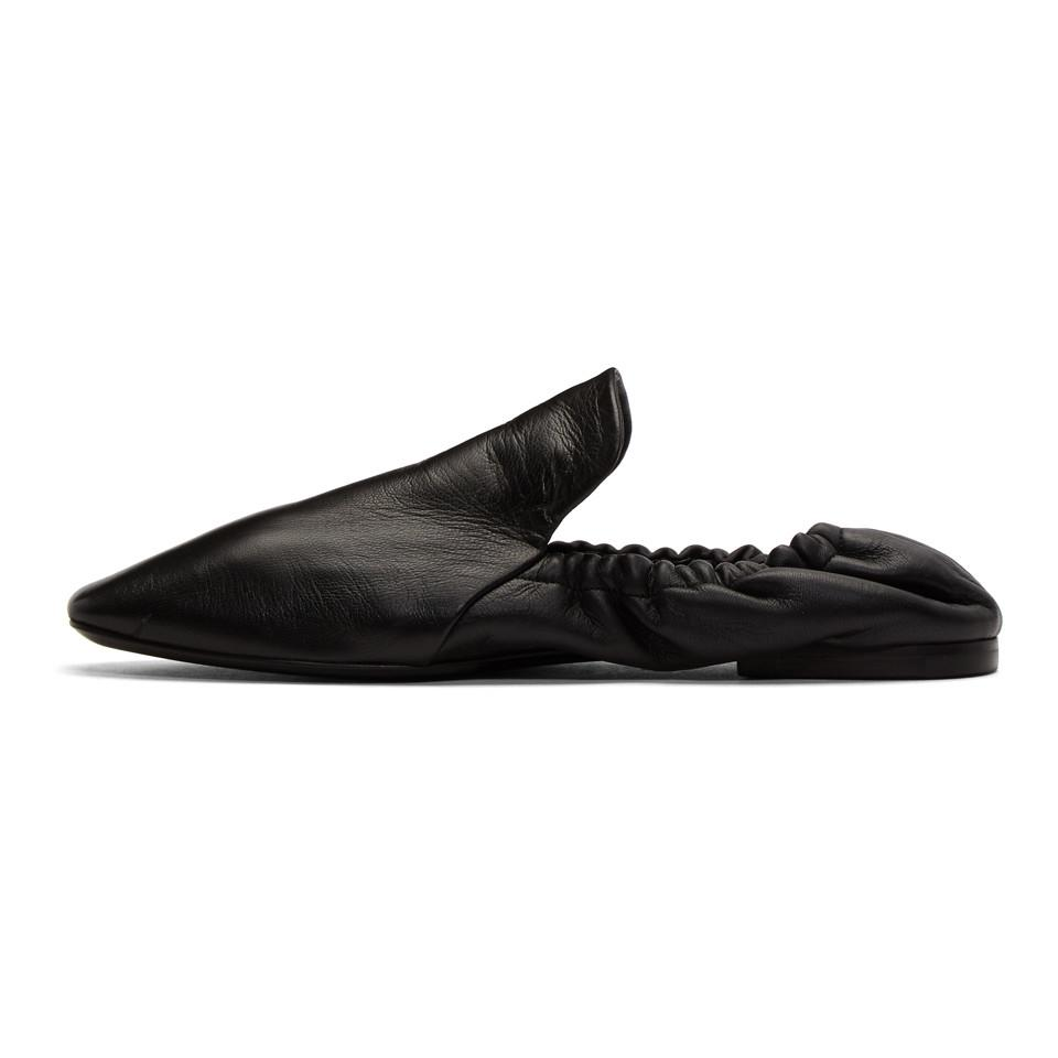 Jil Sander Black Soft Leather Slippers 3tJqMLd