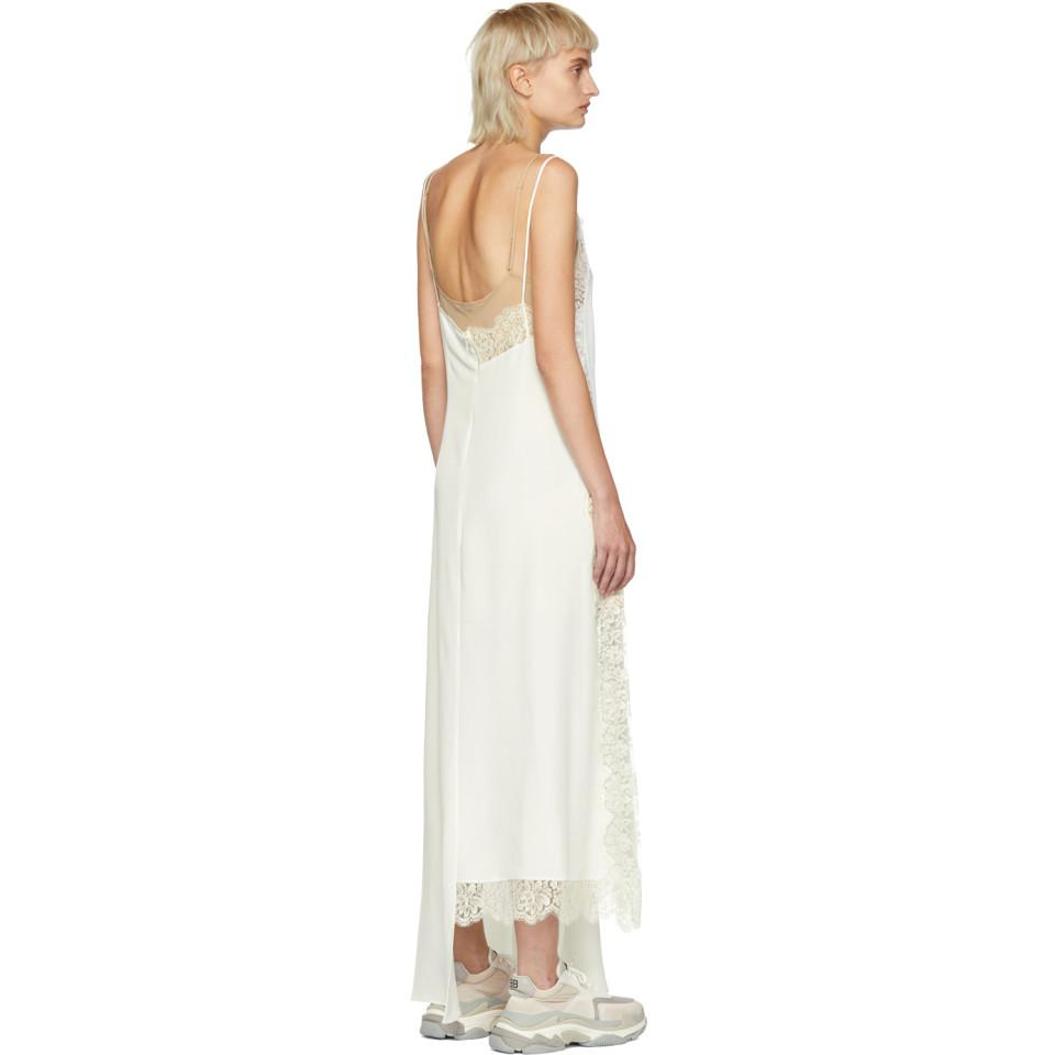 Off-White Lace Insert Slip Dress Stella McCartney Pictures Ib8A34oEq8
