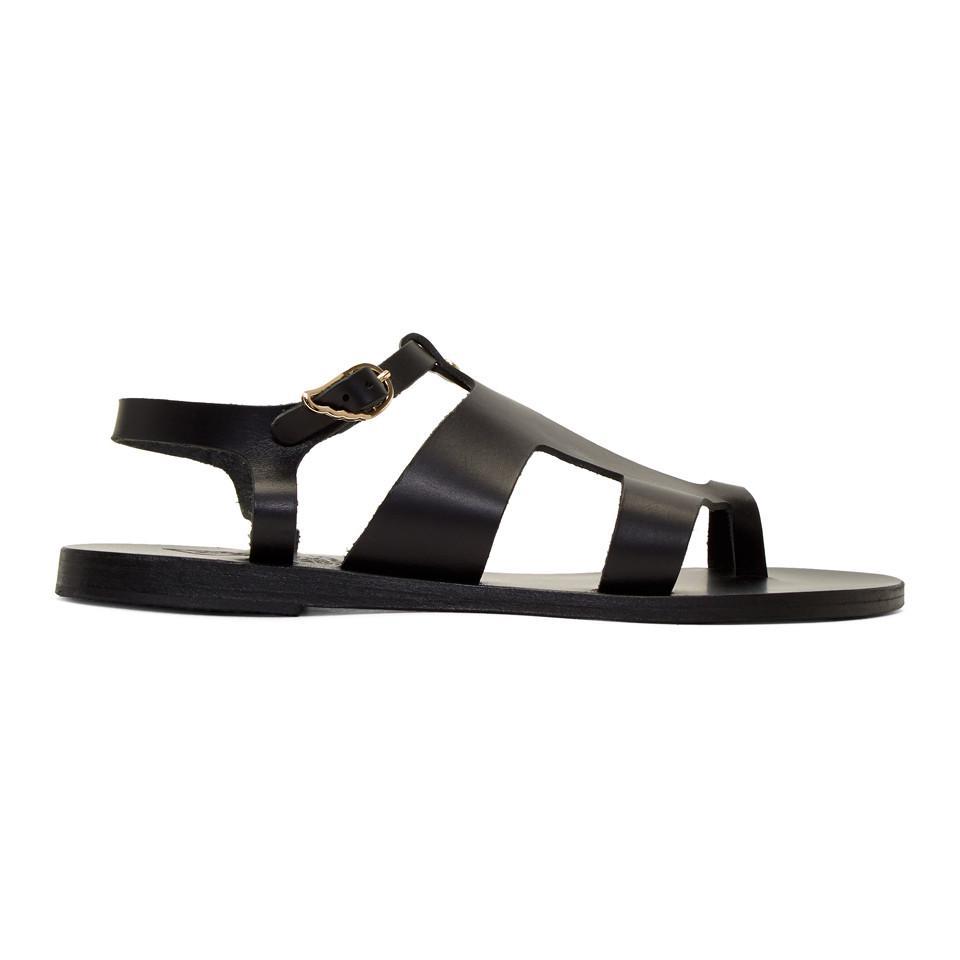 8512f4dd253012 ... Estia Leather Sandals Browns exquisite style e863e 0e19d  Ancient Greek  Sandals. Women s Black Leather Thira Sandals official site 794fe 4c881 ...