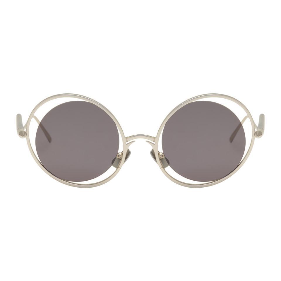 SSENSE Exclusive Gold and Brown Vector Sunglasses Gentle Monster U6JjIWuAP