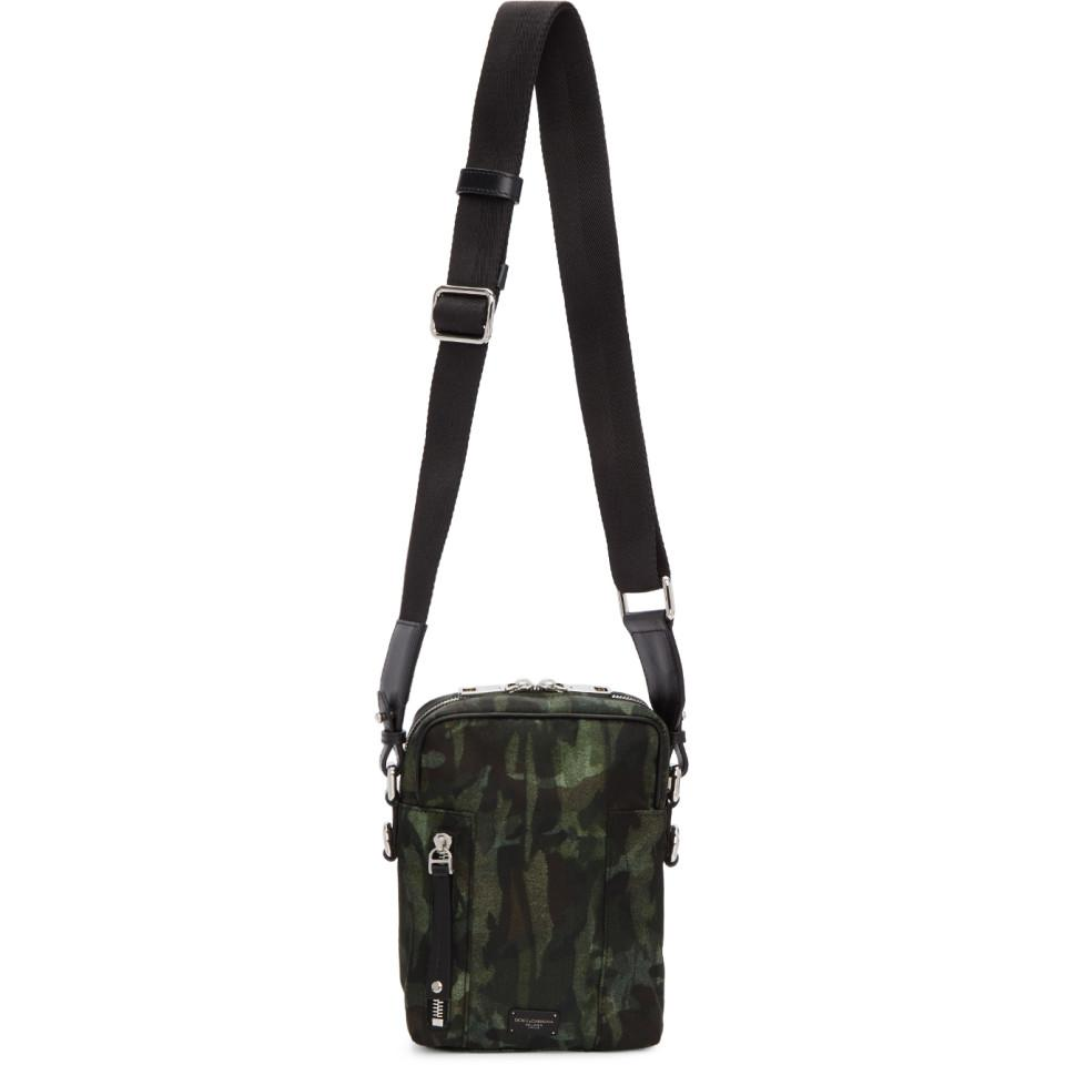 Dolce   Gabbana Green Camo Crossbody Bag in Green for Men - Lyst f802c8e9666a4