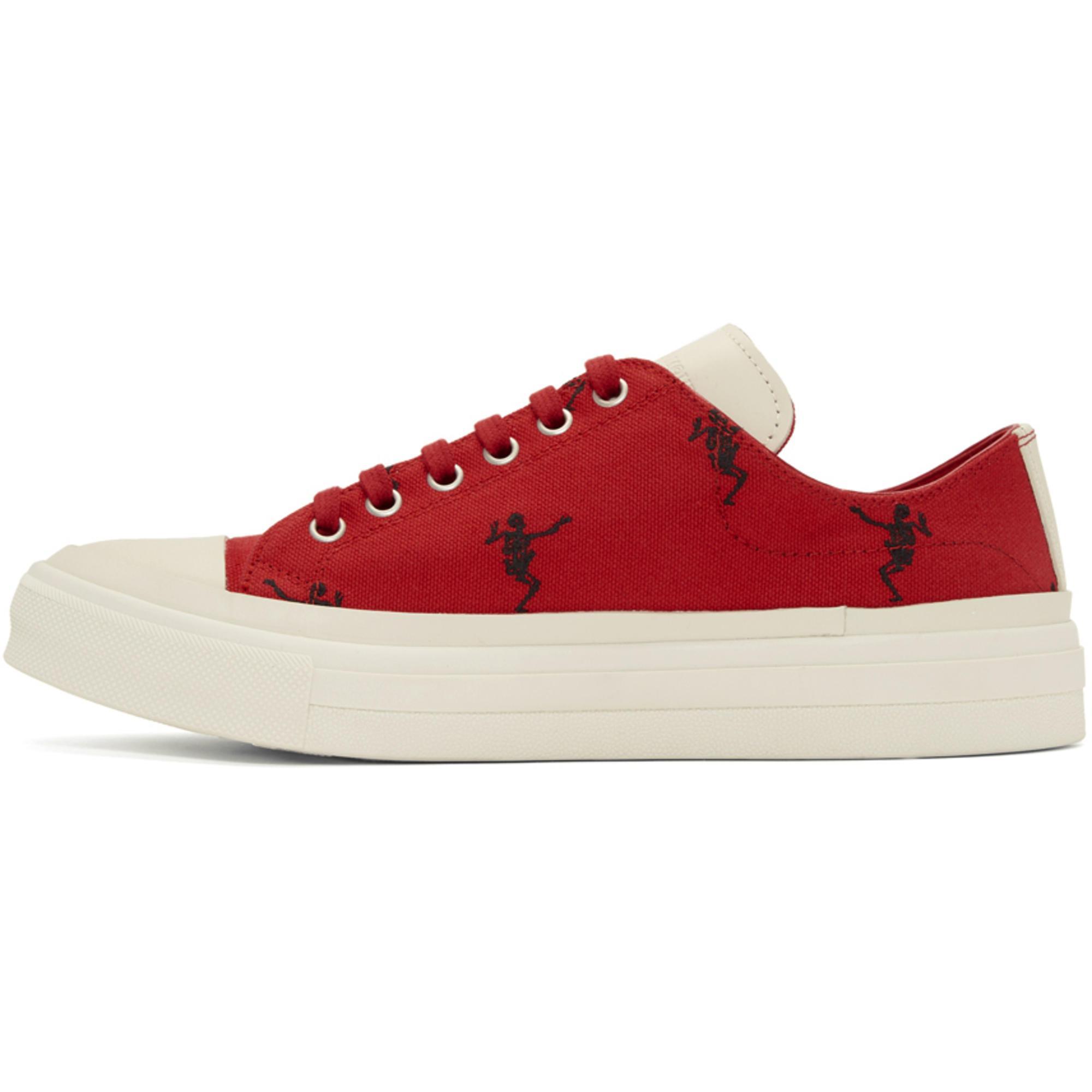 Red Dancing Skeleton Sneakers Alexander McQueen JNx2kD